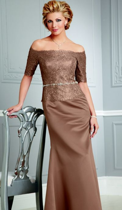 Caterina by Jordan Lace and Satin Mother of the Bride Dress 4036 ...
