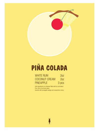 Pina colada, Cocktail recipes and Cocktails