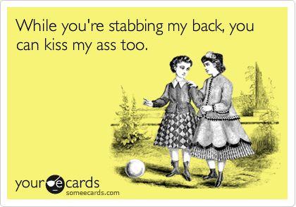 Stabbing My Back