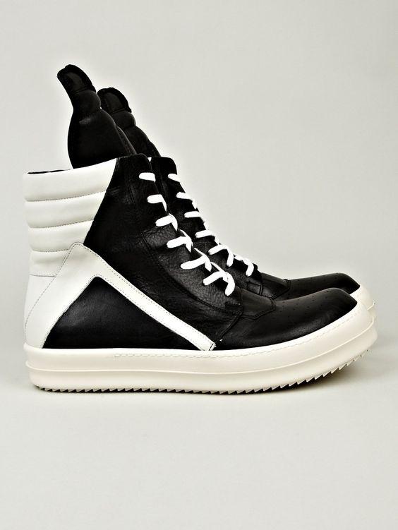 rick owens men 39 s geobasket sneaker in black white at oki ni kicks pinterest shops. Black Bedroom Furniture Sets. Home Design Ideas