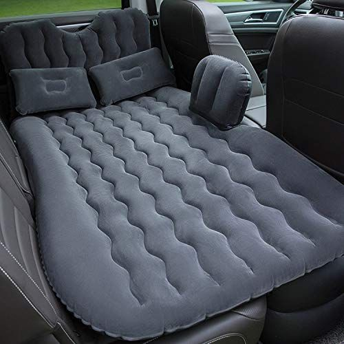 Onirii Car Inflatable Air Mattress Back Seat Pump Portable Travel Camping Vacation Sleeping Blow Up Bed Flitaing Bed Inflatable Bed Car Air Mattress Car Bed