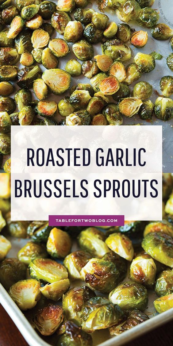 Roasted Garlic Brussels Sprouts - How to Roast and Eat Brussels Sprouts