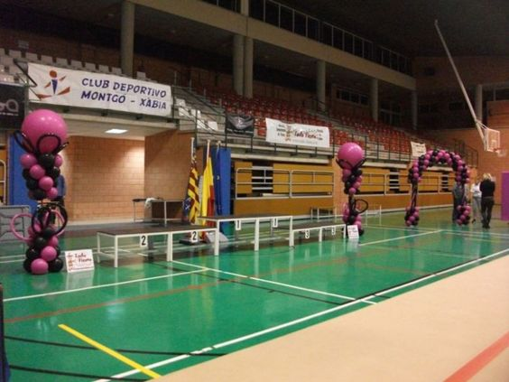 Decoración de Polideportivo para Competición Gimnasia Ritmica