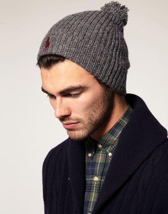 Polo Ralph Lauren , Bonnet en grosse laine à pompon