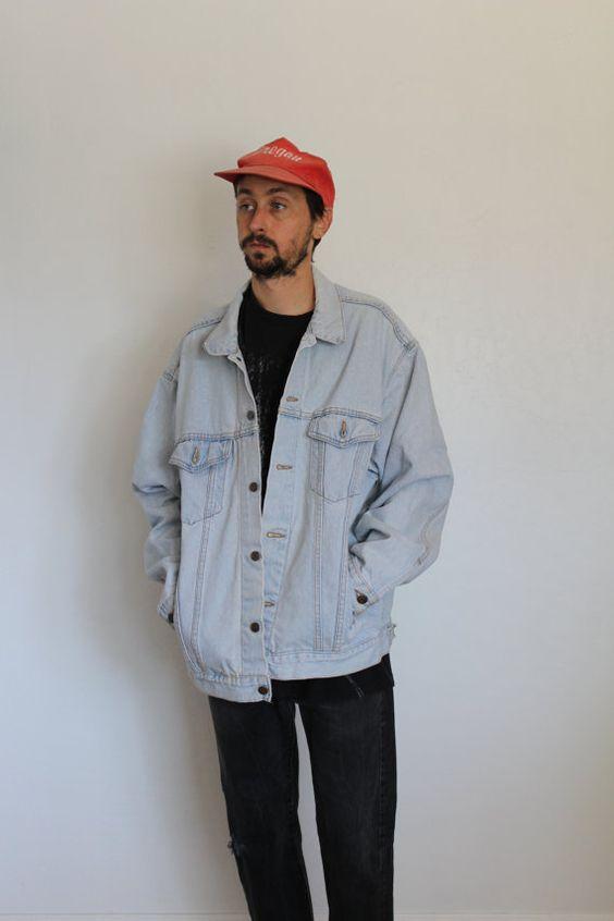 Levis Light Wash Oversized Denim Jacket Mens XL | Levis Men&39s