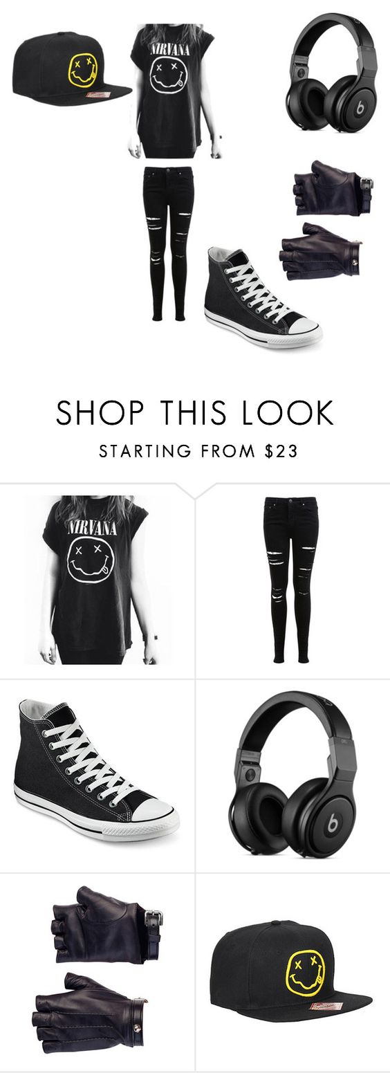 """Nirvana"" by rhianabeirsack221 on Polyvore featuring Miss Selfridge, Converse and Les Cinq"