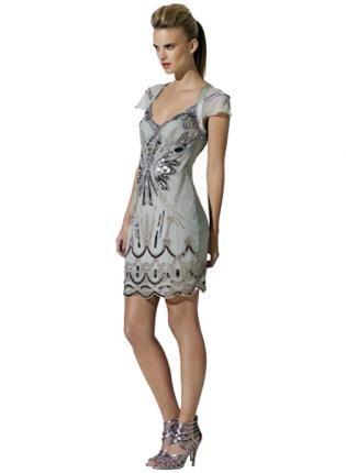 Bqueen Diamante Dress Green K153G, Dress, Bqueen Diamante Dress Green, Chic
