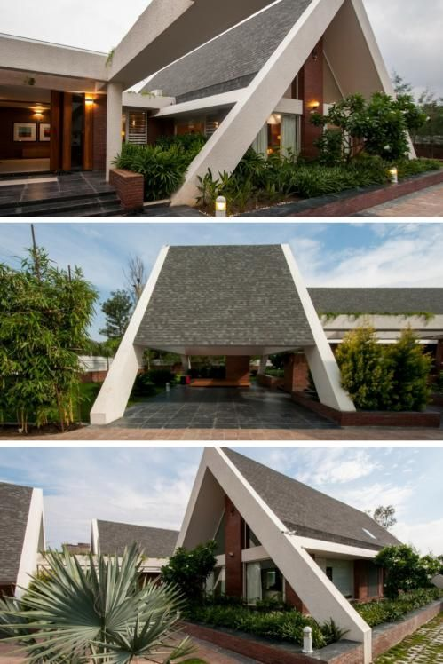 Sloping Roof House Design Buro Architects Roof Design Structure Sloping Contempora House Roof Design Modern Roof Design Residential Architecture Facades