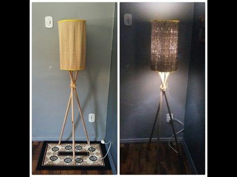 Luminária Tripé - Feita com Cabo de Vassoura - DIY - YouTube