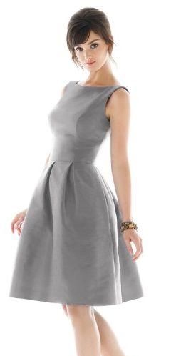 "Madison Avenue Grey....Alfred Sung's ""Mad Men"" dress. $122.00 - @Jenna Bramble - eh? eh? Mad Men?"