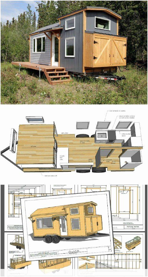 Micro House Plans Free Inspirational 17 Do It Yourself Tiny Houses With Free Or Low Cost Plans In 2020 Tiny House Plans Cheap Tiny House Pallet House Plans