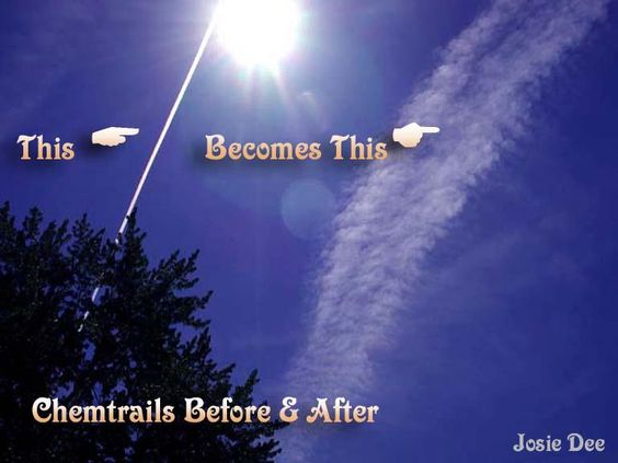 Chemtrails are a conspiracy theory. Just contrails from jet exhaust, not chemical spraying. Right,: