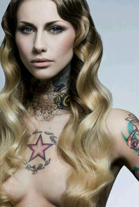 Most beautiful Tattoo Model Lady Diamond aka. Fanny Maurer (Make up Artist). Shes totally Stunning and nice <3