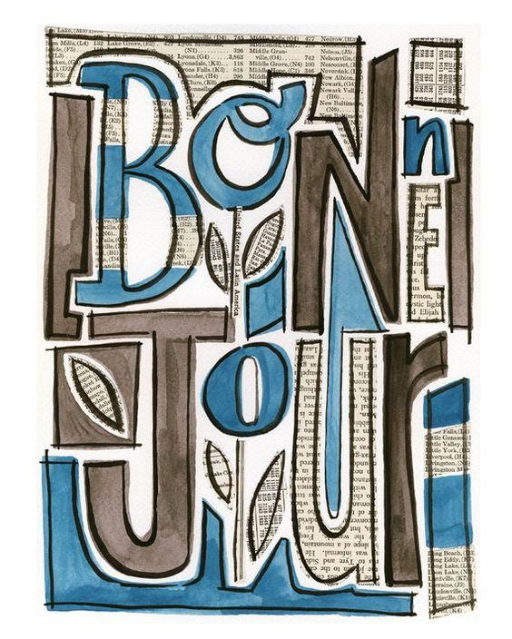 Bon Jour No.1 - giclee print