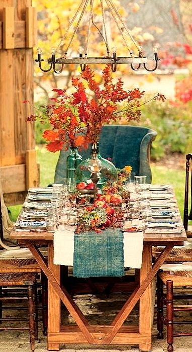 Rustic Fall Tablescape Ideas