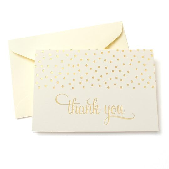 Gold Dots Thank You Cards Envelopes By Celebrate It Michaels Hand Lettering Cards Thank You Cards Calligraphy Birthday Card