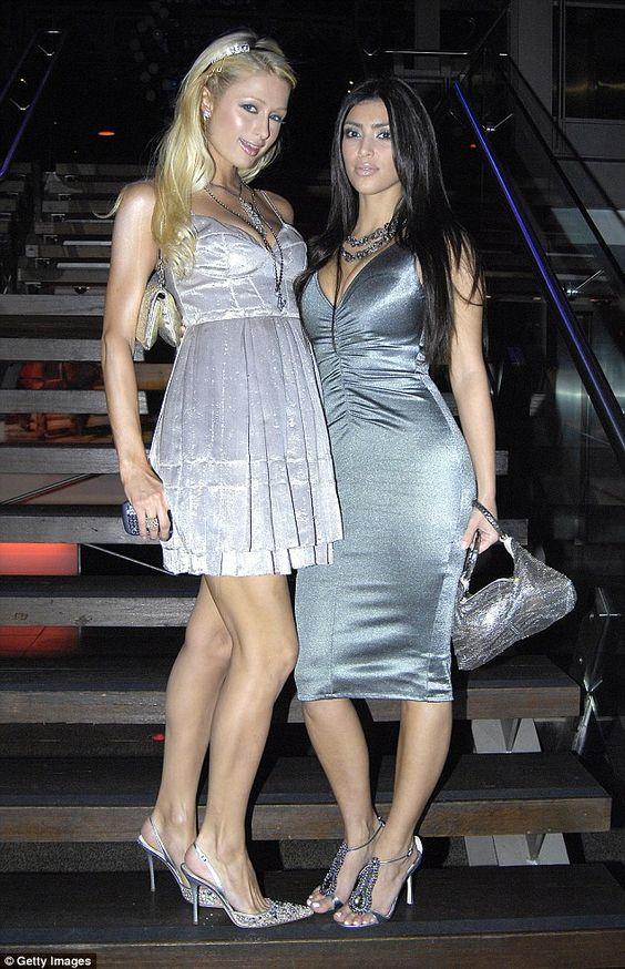 Paris Hilton & Kim Kardashian, above the women posed in 2007 in Sydney