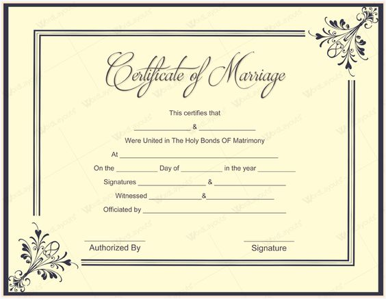 Ms Office Marriage Certificate Template u2013 Microsoft Office Samples - samples certificate