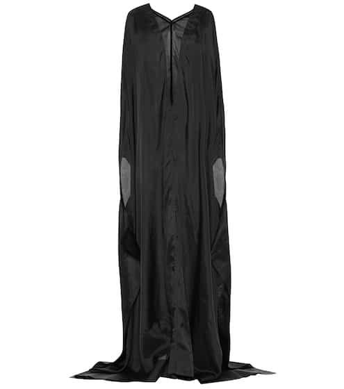 Satin Cupro Maxi Dress Rick Owens