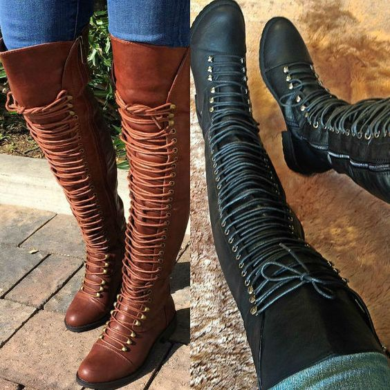 thigh high combat boots shoes boots delicious