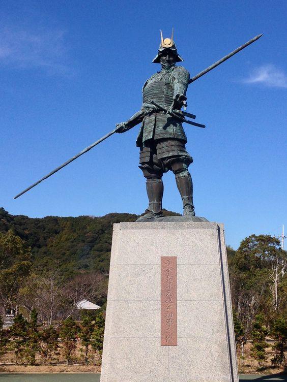 Statue of the Sengoku warrior Chosokabe Motochika