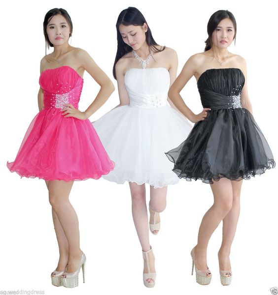 FairOnly Stock Girls Mini Homecoming Birthday Party Dresses Size 6 ...