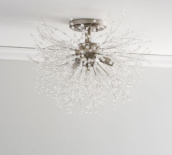 Cobie Crystal Flush Mount In 2020 Flush Mount Lighting Light Fixtures Flush Mount Crystals