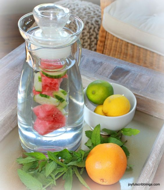 infused water: