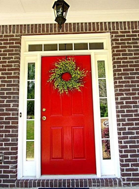 Front Door Colors Front Doors And White Houses On Pinterest