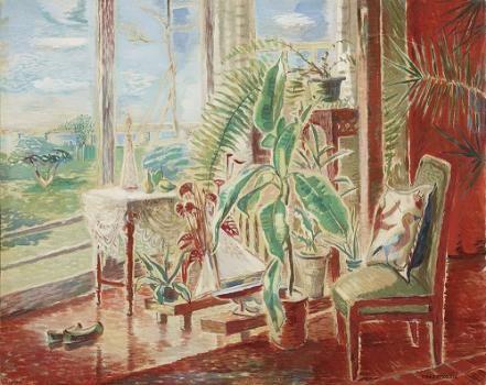 李仁星(イ・インソン)《窓辺》1934年 リウム三星美術館