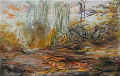 Water-Lilies (left half) Claude Monet