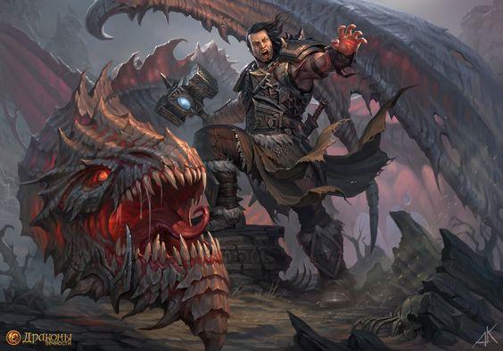 Dragóns Guerrero Armadura Martillo de guerra Dragon Eternity Fantasía