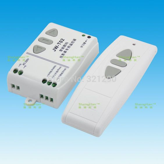 Projection Screen Wireless Remote Controller&Receiving Controller JW-T02 315MHz New Alishow shipping