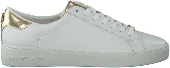 Witte Michael Kors Sneakers IRVING LACE UP