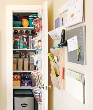 Wall-mountable pantry, calendar, phone, keys.    http://www.realsimple.com/home-organizing/organizing/kitchen/smart-ideas-kitchen-00000000013845/page26.html#