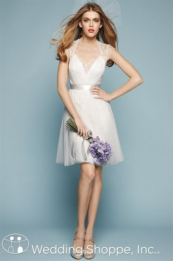 Encore by Watters Spruce is such a great look for your reception or rehearsal dinner dress!