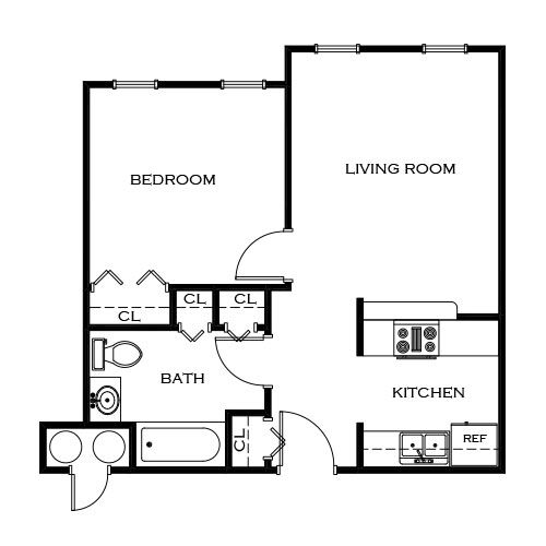 One And Two Bedroom Senior Apartments In Savoy Il Savoy Illinois Apartment Steadfast Senior Apartments Floor Plans Bedroom Floor Plans