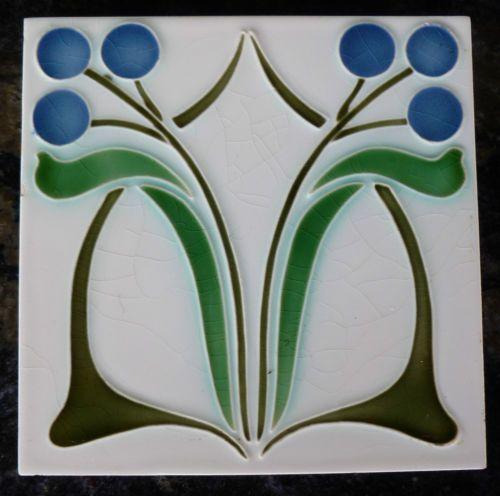 jugendstil fliese art nouveau tile tegel dtag bl ten blau rar top sch n apart ebay wow. Black Bedroom Furniture Sets. Home Design Ideas