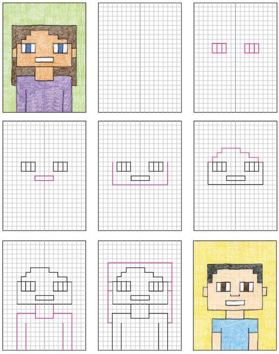 Idée Pinterest : portrait façon Minecraft (C3)