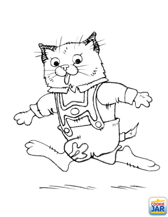 Huckle Cat Coloring Page Richard Scarry Theme Birthday