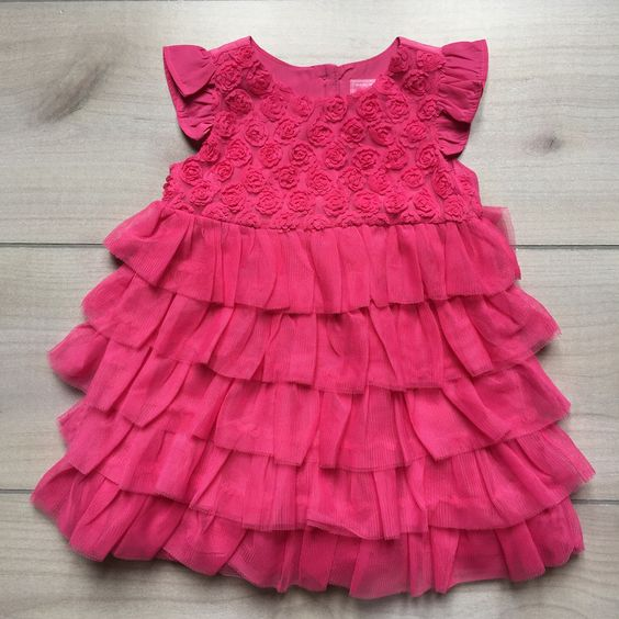 Children's Place Pink Tulle Ruffle Dress