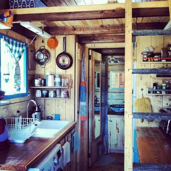 Tiny house in Los Angeles California made mostly of reclaimed