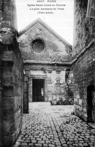 Eglise Saint Julien le Pauvre en 1917