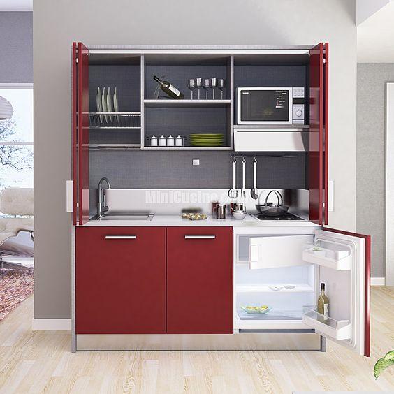 Cucine a scomparsa monoblocco: cucina con chiusura con ante a ...
