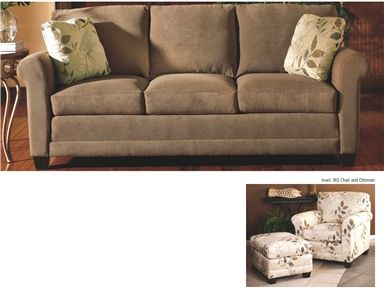 Shop for Smith Brothers Three Cushion Sofa, 365-10, and other Living Room Sofas at Kettle River Furniture and Bedding in Edwardsville, IL. Comfort Wrinkles are Designed to Appear in This Style to Enhance the Exceptionally Soft Feel of the Seat and Back Cushions.