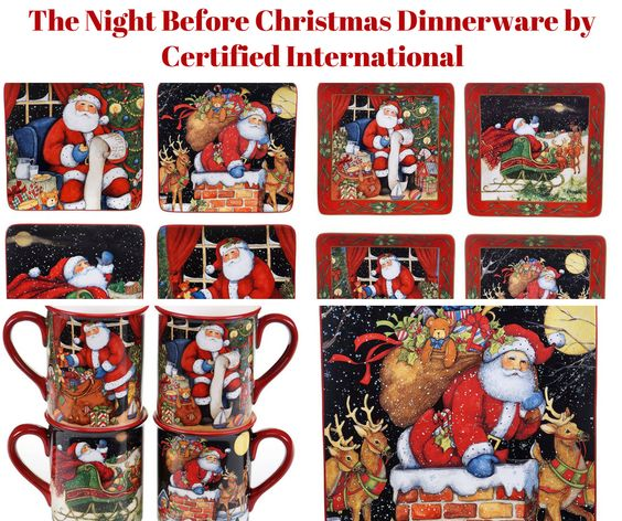 The Night Before Christmas Dinnerware by Certified International