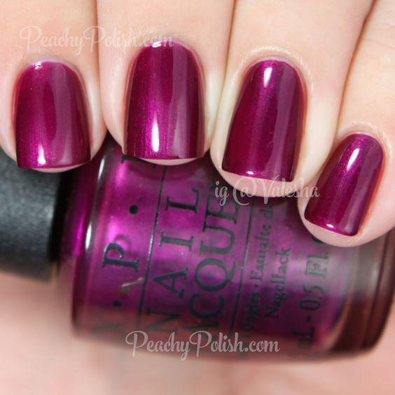 OPI Kiss Me - Or Elf! | Holiday 2014 Gwen Stefani Collection | Peachy Polish #purple