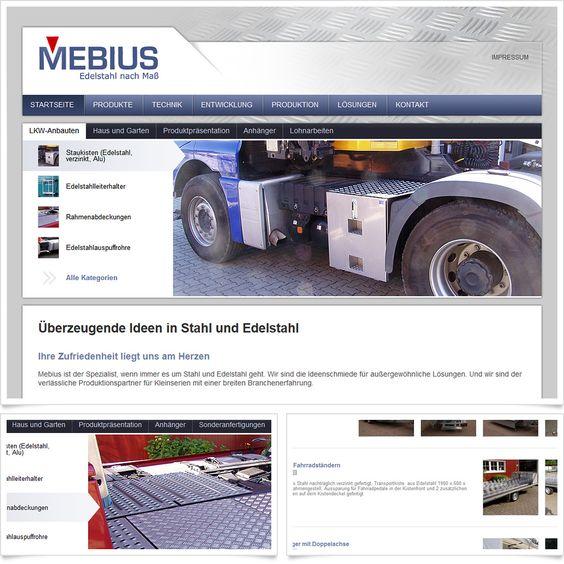 Internetseite Relaunch MEBIUS Metallbau / Leistungen: Konzeption, Webdesign, Technische Umsetzung / Techniken: Contao, Isotope eCommerce, HTML5, CSS, PHP, mootools
