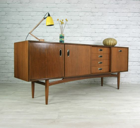 G plan retro vintage teak mid century danish style sideboard eames ...