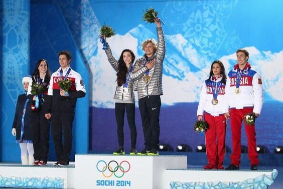 Olympic Ice Dance's medals ceremony